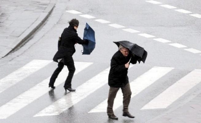 Жълт код заради очаквани валежи и силен вятър