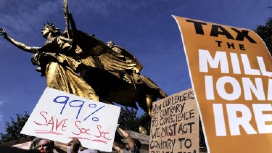 """Окупирай Уолстрийт"" влезе в квартала на милионерите"