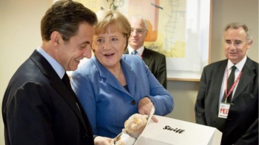 Отношенията на Меркел и Саркози разклатени от кризата