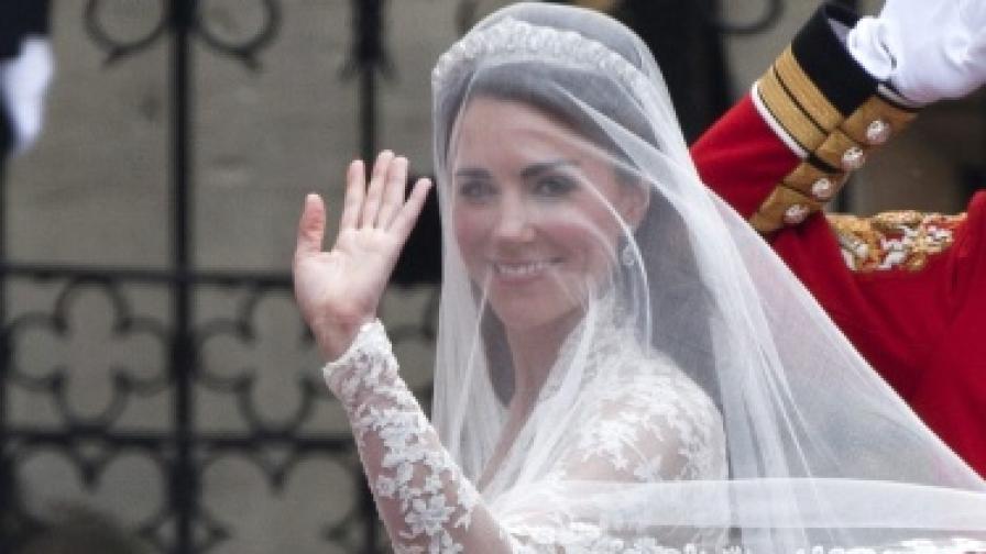 Кейт Мидълтън на сватбата си