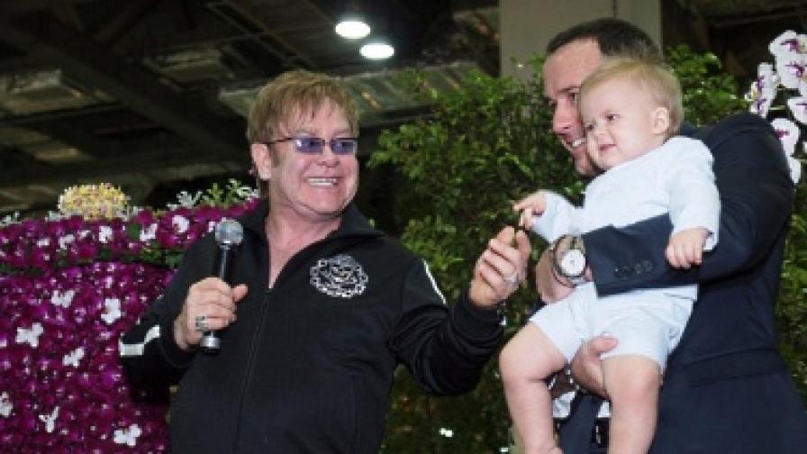 Елтън Джон се превърна в орхидея