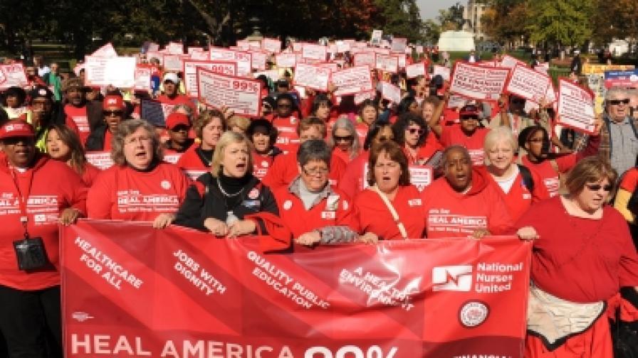 "Демонстрация на движението ""Окупирай Уолстрийт"" във Вашингтон"