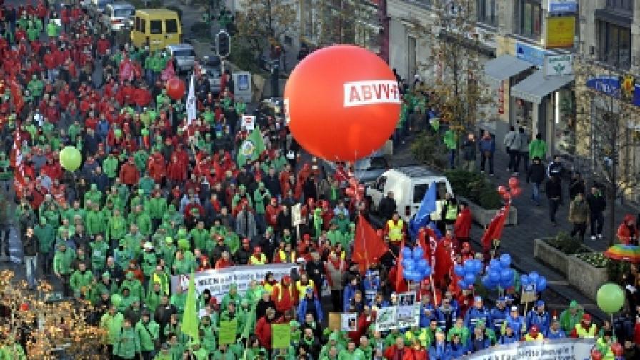 Общонационална стачка блокира Брюксел