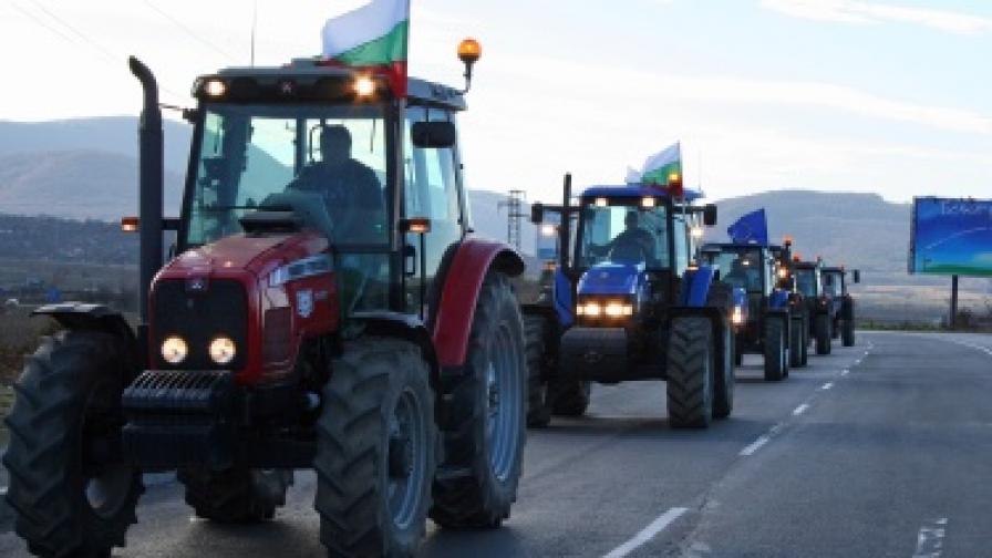 170 селскостопански машини влизат в София довечера
