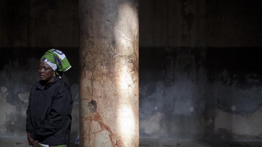 Богомолка от Нигерия във Витлеем