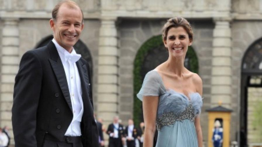 Княз Кирил и Росарио Надал на сватбата на шведската принцеса Виктория, юни 2010 г.