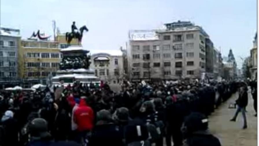Хиляди на протеста срещу ACTA