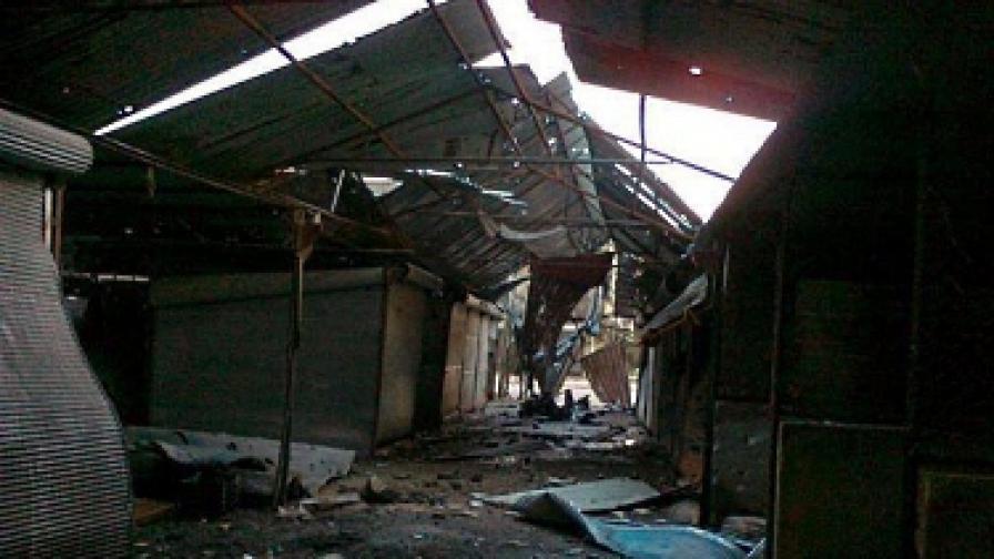 В Хомс падат по няколко снаряда в минута
