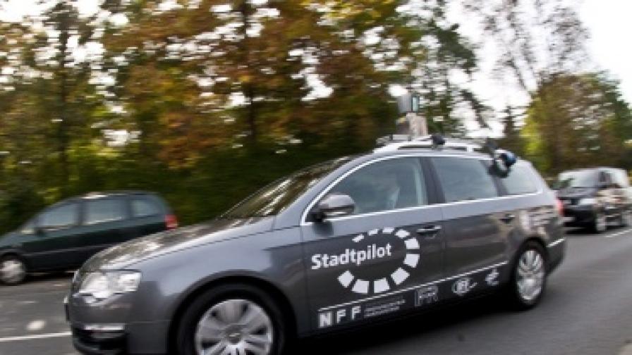 """Изпитания с подобни автомобили се провеждат в няколко държави по света - този """"Фолксваген"""" се тества в Германия"""