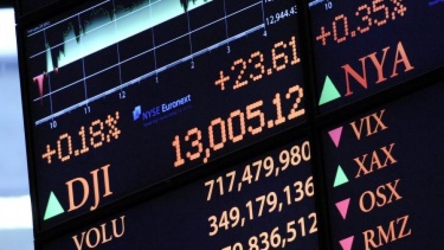 """Индексът """"Дау Джоунс"""" стигна нива от преди кризата"""