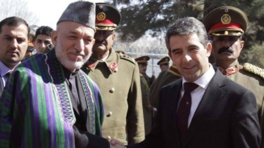 Росен Плевнелиев пристигна на неочаквано посещение в Афганистан