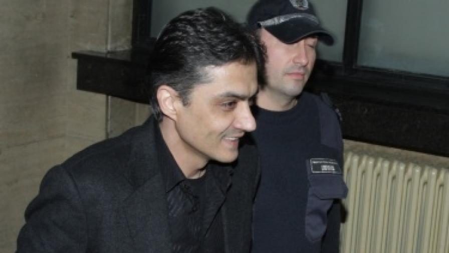 """Марчело Джотолов в СГС на 29 октомври 2010 г. Той бе задържан в рамките на операцията на МВР """"Октопод"""" заедно с Алексей Петров и други петима души по обвинение за участие в организирана престъпна група за данъчни измами"""