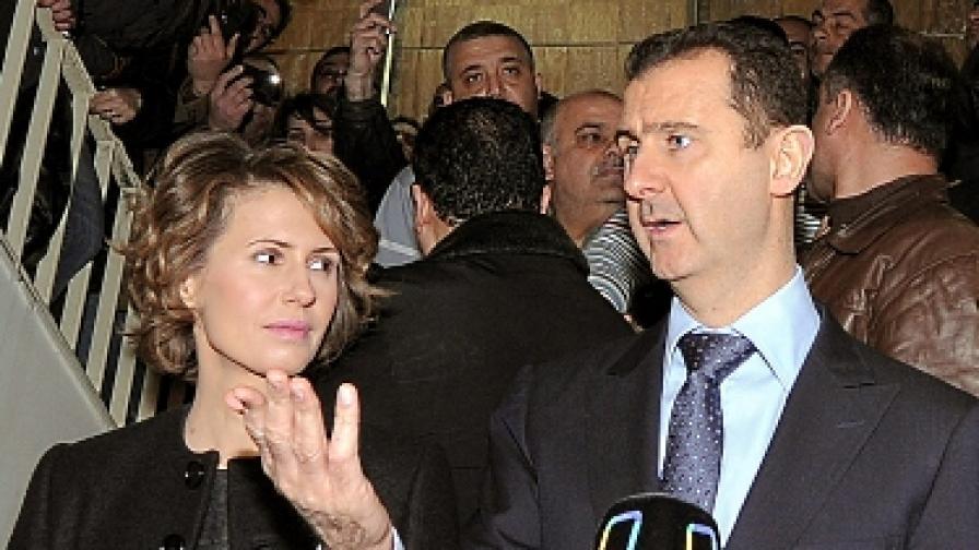 Из имейла на Башар Асад