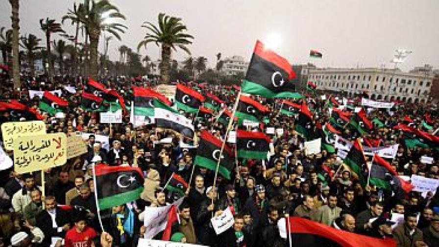 На 9 март в Триполи хиляди протестираха срещу федерализма