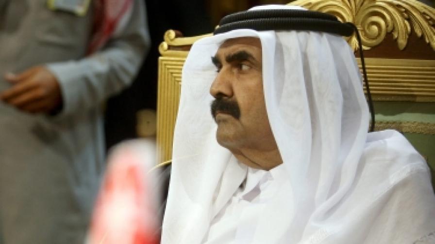 Емирът на Катар шейх Хамад бин Халифа Ал Тани