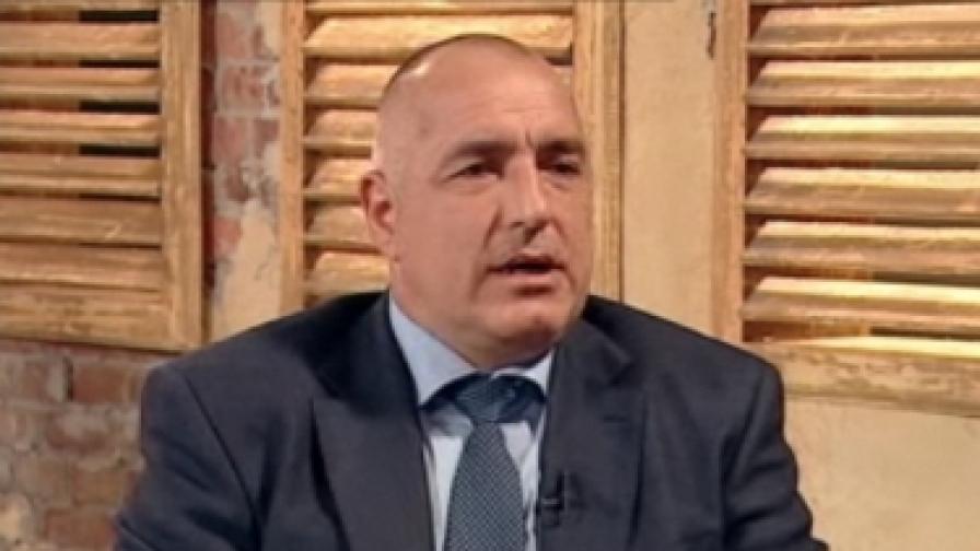 Премиерът Бойко Борисов в студиото на ТВ7