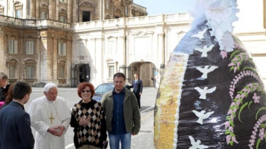 250-килограмово шоколадово яйце за папата
