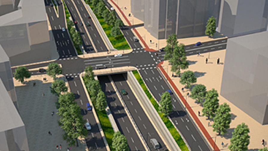 Започва строежът на още едно кръстовище на две нива в София