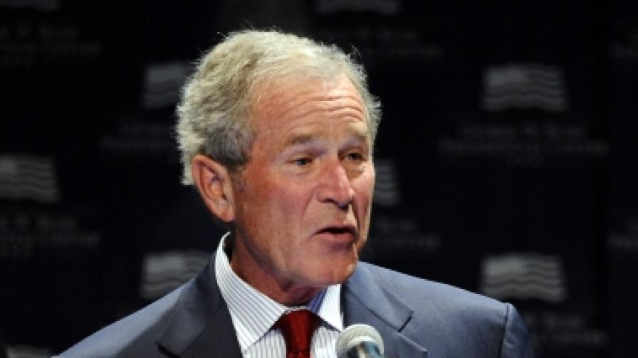 Телевизия отряза главата на Буш и се извини