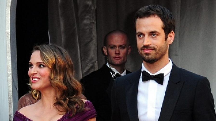 """Натали Портман и Бенжамен Милпие на церемонията по връчването на наградите """"Оскар"""""""