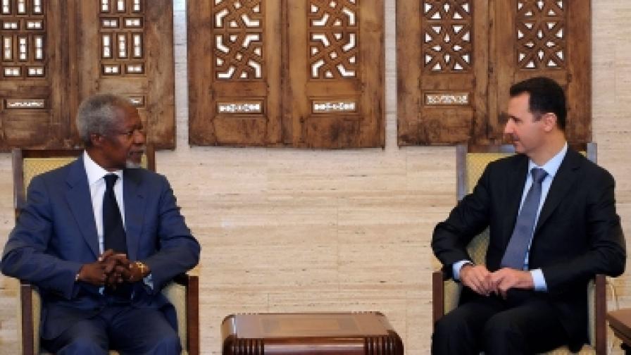 Башар Асад бил съгласен с новия мирен план за Сирия