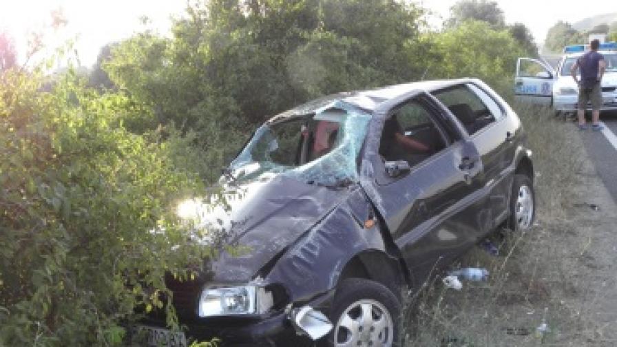 2 жени и 2 деца ранени тежко при катастрофа