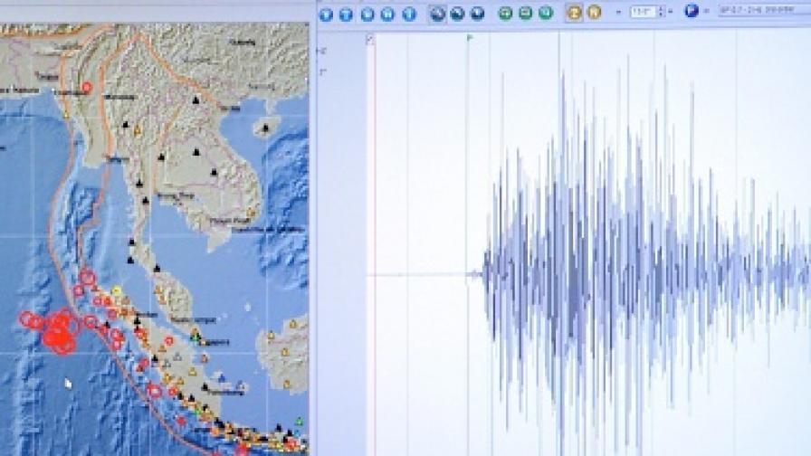 Силно земетресение до о. Суматра