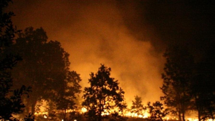 Пожарът в Сакар е погасен окончателно