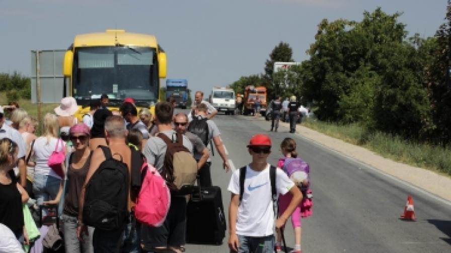 Автобус с полски туристи катастрофира и на 1 юли т.г. край Варна