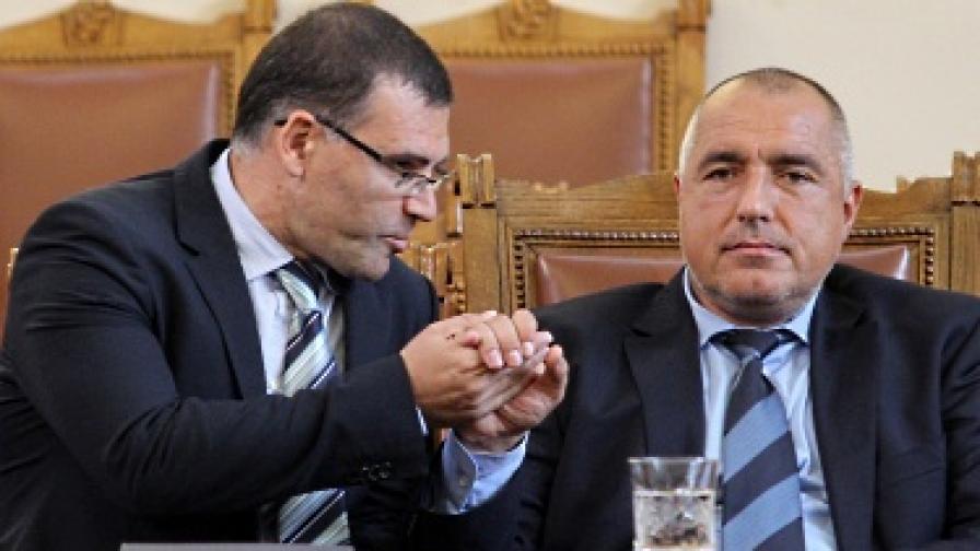 Министър-председателят Бойко Борисов и вицепремиерът и финансов министър Симеон Дянков