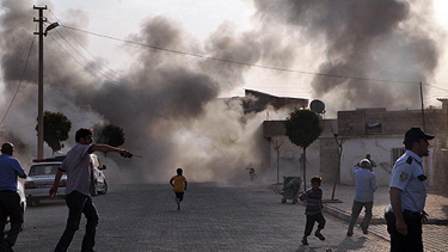 Турция отвърна на сирийския удар