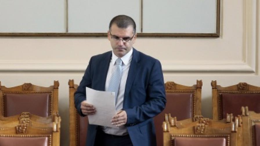 Министър Дянков в парламента