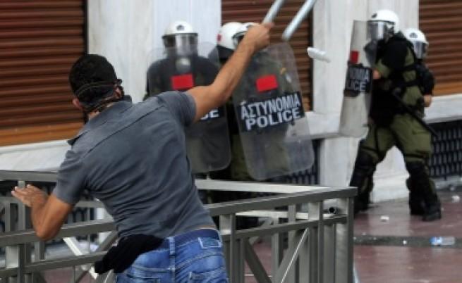 Обща стачка в Гърция в деня на срещата на върха в Брюксел