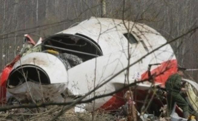 Следи от взривни вещества в самолета на Качински?