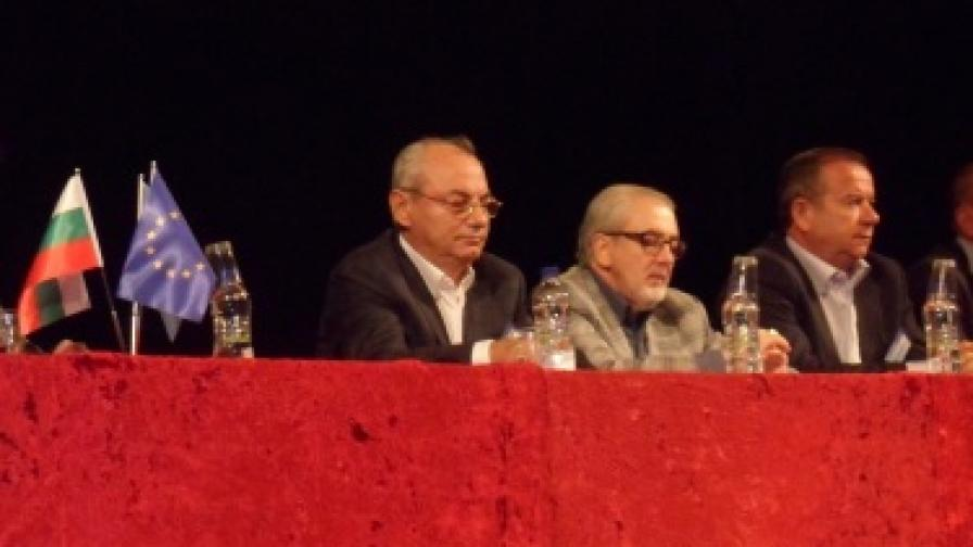 Ахмед Доган по време на отчетно-изборната конференция на ДПС в Кърджали в неделя