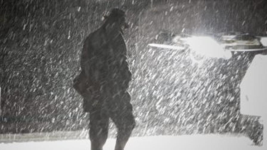 След Санди: Силна снежна буря връхлетя САЩ