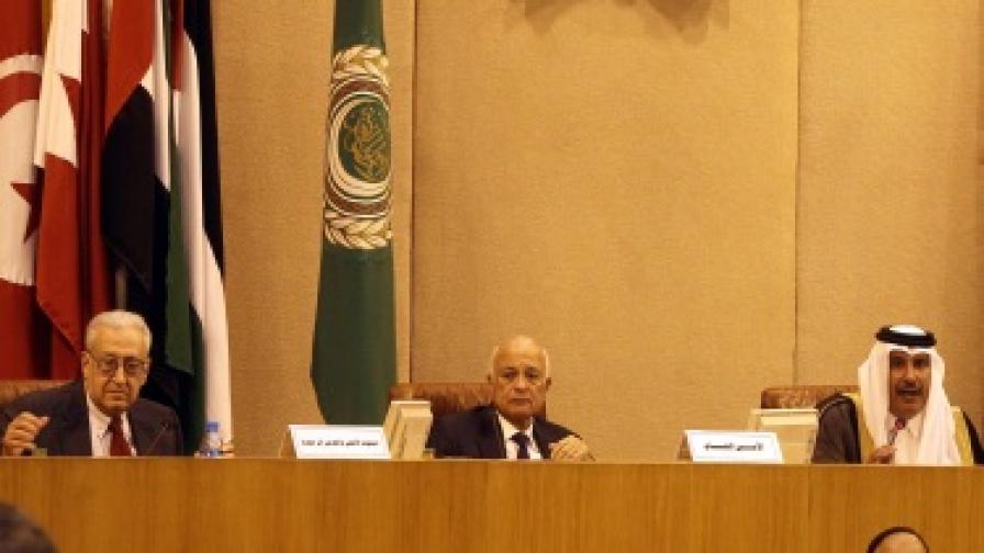 Кадър от срещата на Арабската лига
