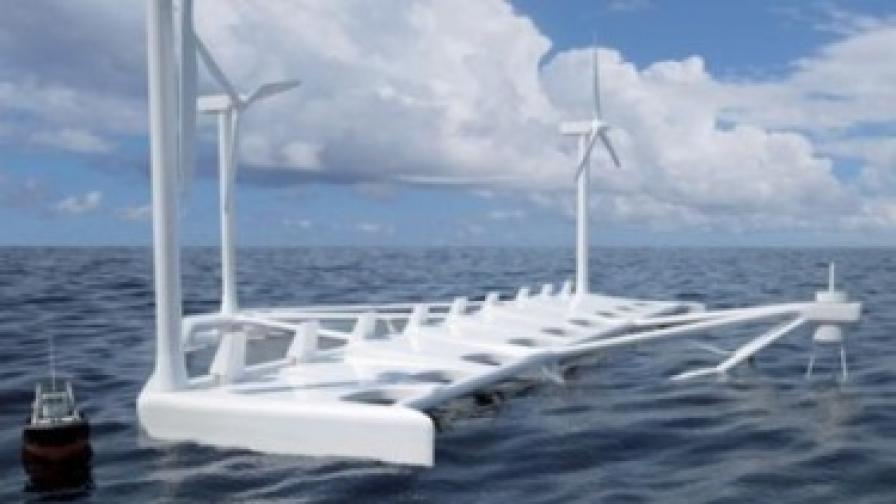 Преди две години датската компания Floating Power Plant представи прототип на плаваща електроцентрала, оборудвана с два вида турбини - хидро- и вятърни