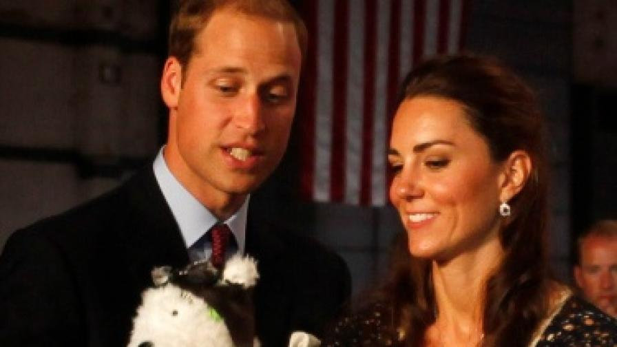 Принц Уилям и Кейт снимани с детски играчки на 1 юли 2011 г.