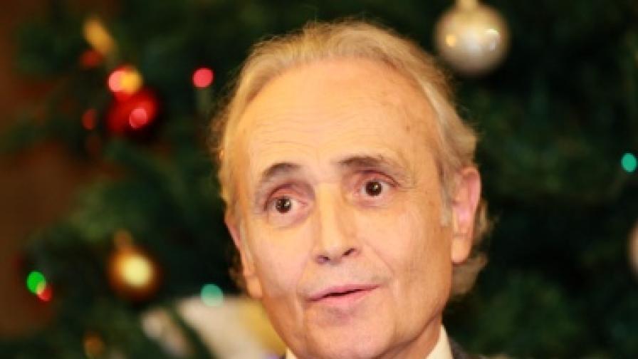 Хосе Карерас на летище София