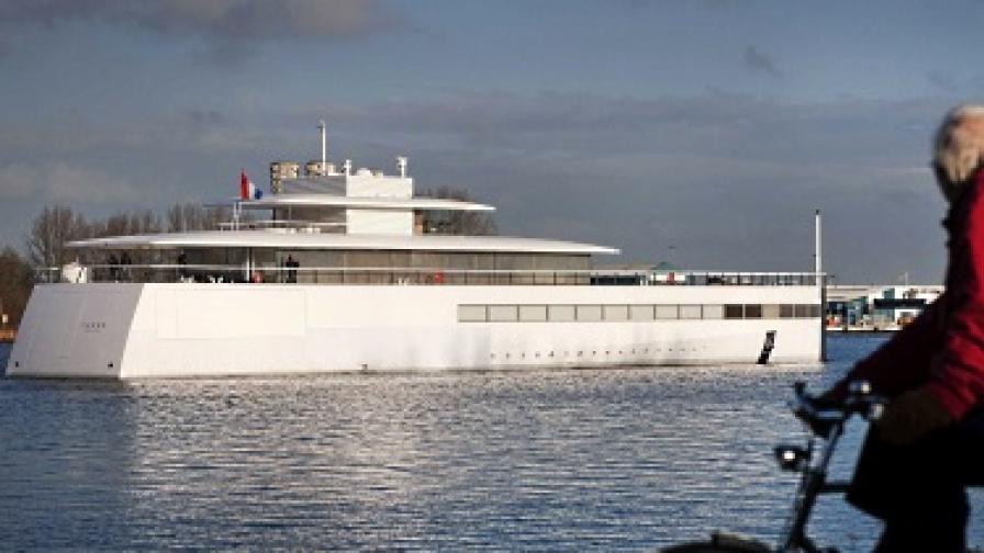 Наложиха възбрана върху яхтата на Стив Джобс