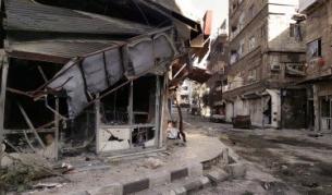 Разрушения от боевете в Дамаск