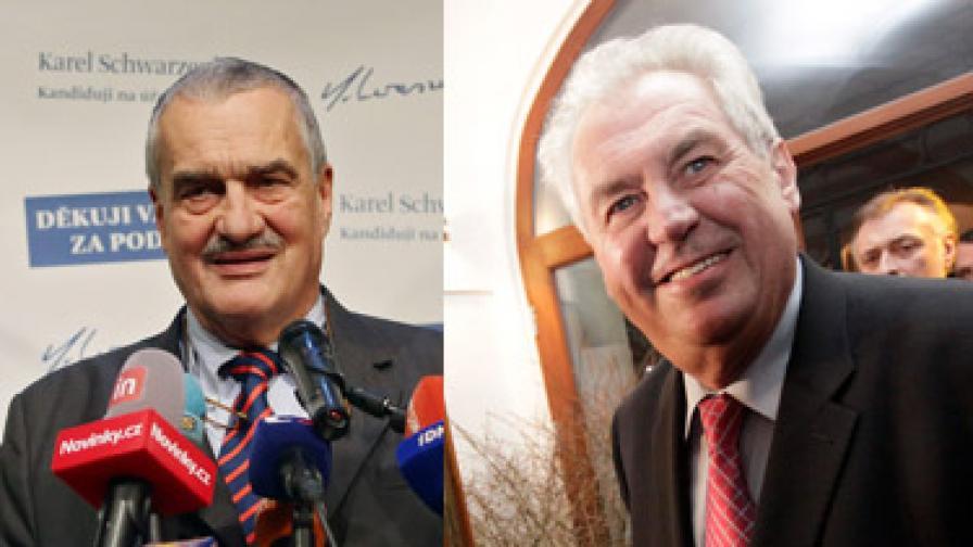 Чехите не успяха да изберат президент на първи тур