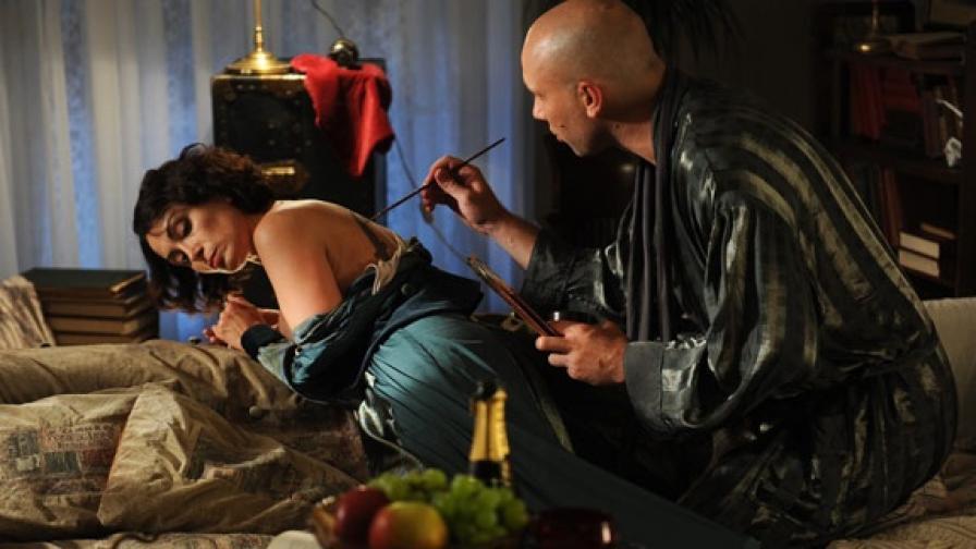 """Жанет Спасова и Захари Бахаров в сцена от """"Аз съм ти"""", реж. Петър Попзлатев"""