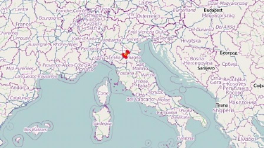 Земетресение в италианската област Тоскана