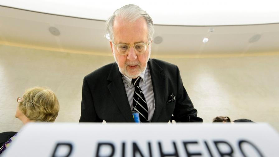 Бразилският дипломат Паулу Пинейру ръководи независим екип, натоварен от ООН с разследването на военните престъпления в Сирия