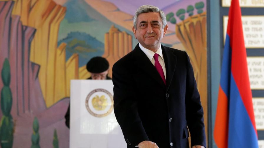 В Армения преизбраха президента си