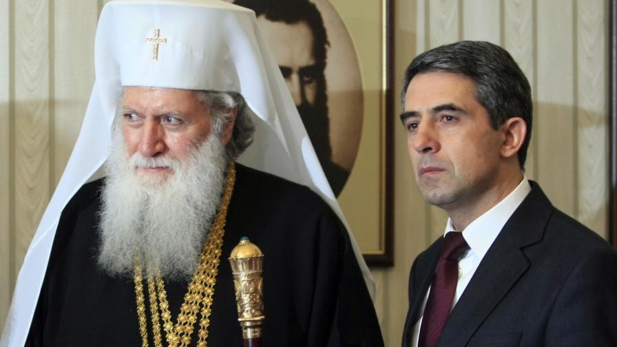 Президентът Росен Плевнелиев се срещна с Негово Светейшество Българския патриарх и Софийски митрополит Неофит