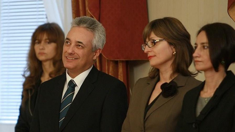 Служебният премиер Марин Райков, Екатерина Захариева и Деяна Костадинова