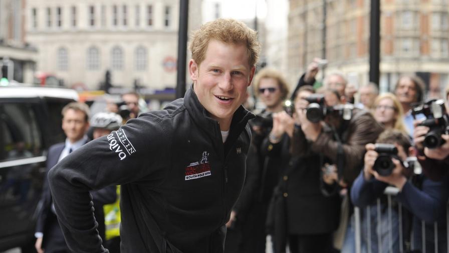 Принц Хари в епична надпревара до Южния полюс